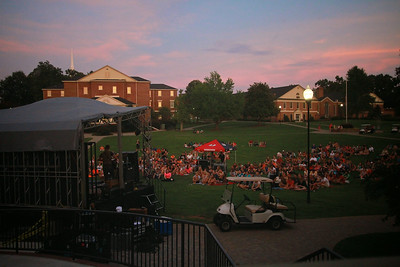 Sidewalk Prophets give a concert on the quad for GWU students; Fall 2014