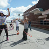 JOED VIERA/STAFF PHOTOGRAPHER-Lockport, NY- Kids hoola hoop during a contest at the Health Fair on Thursday, August 14th.