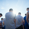 JOED VIERA/STAFF PHOTOGRAPHER-Lockport, NY-Varsity and JV Lions listen as Coach gives a speech during practice on Monday, August 18th.