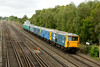 28 August 2013 :: Train 5Y08 from Eastleigh to Tonbridge is passing Worting with 73207, 73109, 73006 & 73005