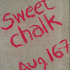 140806 JOED VIERA/STAFF PHOTOGRAPHER-Lockport, NY- Chalk art outside of Sweet Rides to promote chalkfest on Thursday, August 7th.
