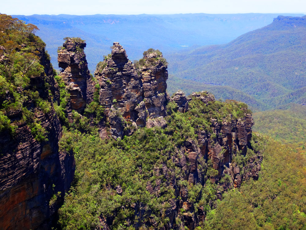 The Three Sisters, seen from Echo Point