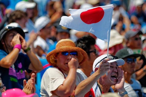04.05 Fans of Kei Nishikori - Australian Open 2014_04.05