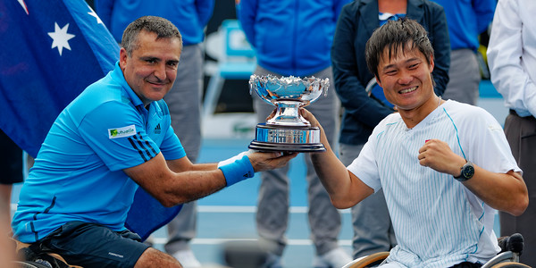 02.06 Stephane Houdet and Shingo Kunieda winners - Australian Open Wheelchair 2014_02.06