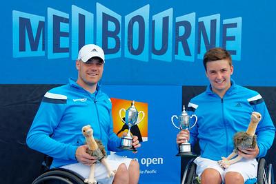 02.07 Maikel Scheffers and Gordon Reid finalist - Australian Open Wheelchair 2014_02.07