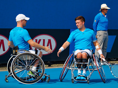 02.05 Maikel Scheffers and Gordon Reid - Australian Open Wheelchair 2014_02.05