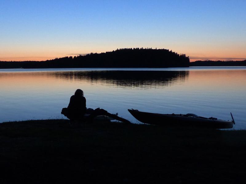 Solnedgång vi Båven