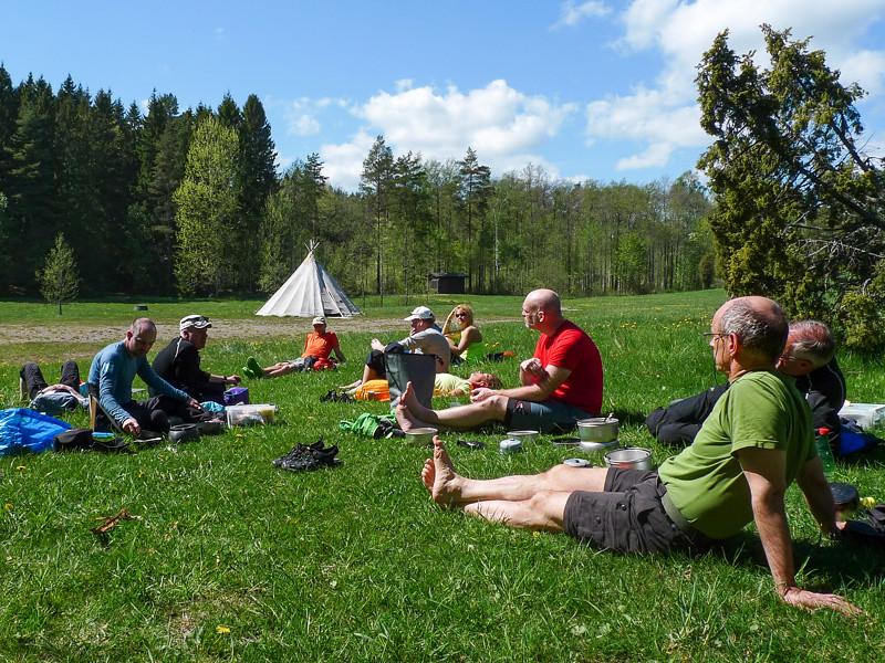 Scouternas tältplats vid Gilwellstugan