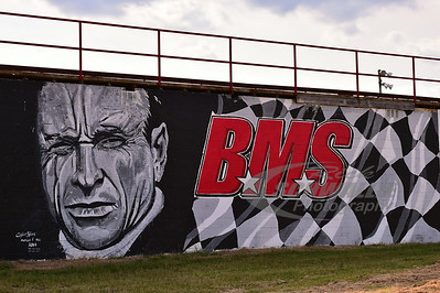 A mural painted of Mark Martin