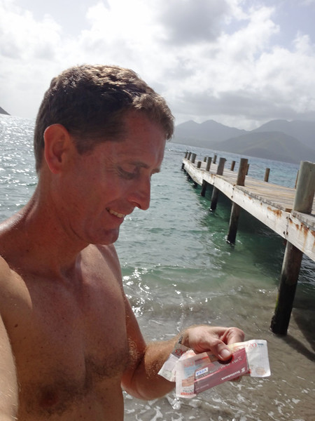 But there were rumours of currents in the channel (not to mention sharks around Booby Island!) and it was a long way. Maybe I wouldn't be able to get back. Maybe I'd end up on Nevis! I'd better take some money for the ferry back then, and to buy a drink... :)