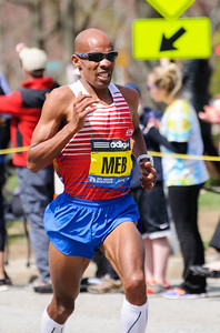 The leading male runner, Meb Keflezighi, became the first American to win the Boston Marathon since Greg Meyer in 1983.
