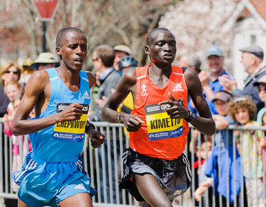 Frankline Chepkwony (3rd place) and Dennis Kimetto
