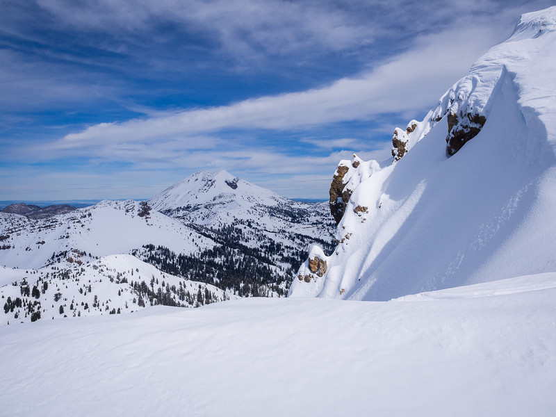Lassen Peak, between the summits