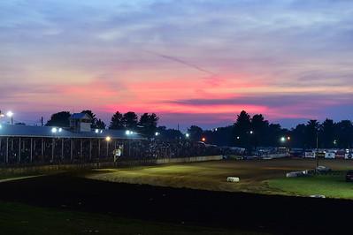 Sunset over Brownstown Speedway
