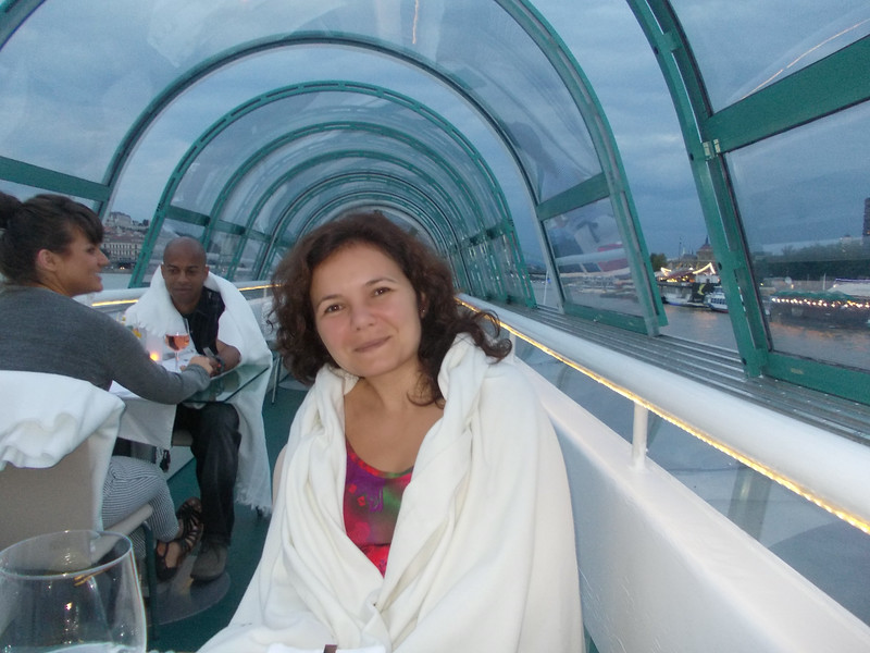 They even had blankets on the boat