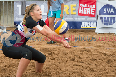 CEV Continental Cup, Round 2, Pool B (Women - Day 1), Sat 20th Sep 2014, Portobello, Scotland.  © Lynne Marshall