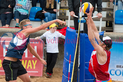 CEV Continental Cup, Round 2, Pool B (Men - Day 1), Sat 20th Sep 2014, Portobello, Scotland.  © Lynne Marshall