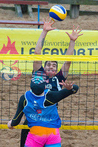 CEV Continental Cup, Round 2, Pool B (Men - Day 1), Sat 20th Sep 2014, Portobello, Scotland.  © Lynne Marshall