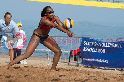 CEV Continental Cup, Round 2, Pool B (Women - Day 2), Sun 21st Sep 2014, Portobello, Scotland.  © Lynne Marshall