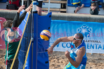 CEV Continental Cup, Round 2, Pool B (Men - Day 2), Sun 21st Sep 2014, Portobello, Scotland.  © Lynne Marshall