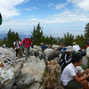 Just a few folks on the summit