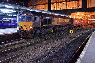 66183 2311/4s79 Ferrybridge-Hunterston arrives at Carlisle.