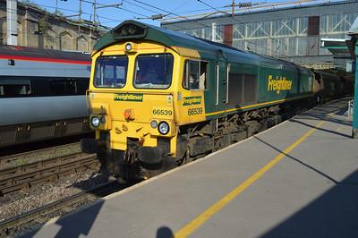 66539 1806/4s68 Hunslett-Carlisle passes through Carlisle station.