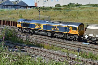 66739 1004/6G64 Liverpool-Ironbridge passes Crewe Salop.