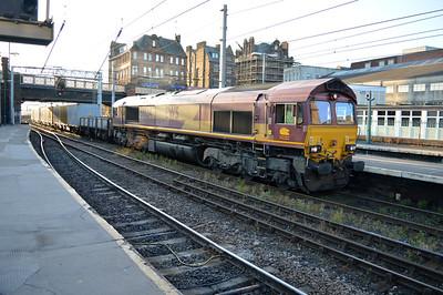 66124 2020/3F03 Lomgtown-Marchwood MOD train passes through Carlisle.