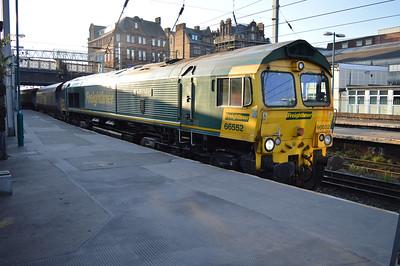 66552 1956/6E06 Hunterston-West Burton arrives at Carlisle.