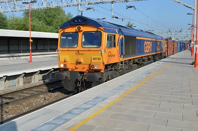 66730 0840/4G01 Seaforth-Ironbridge passes Stafford.