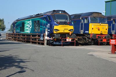 68004 and 57010 at Crewe Gresty Bridge.