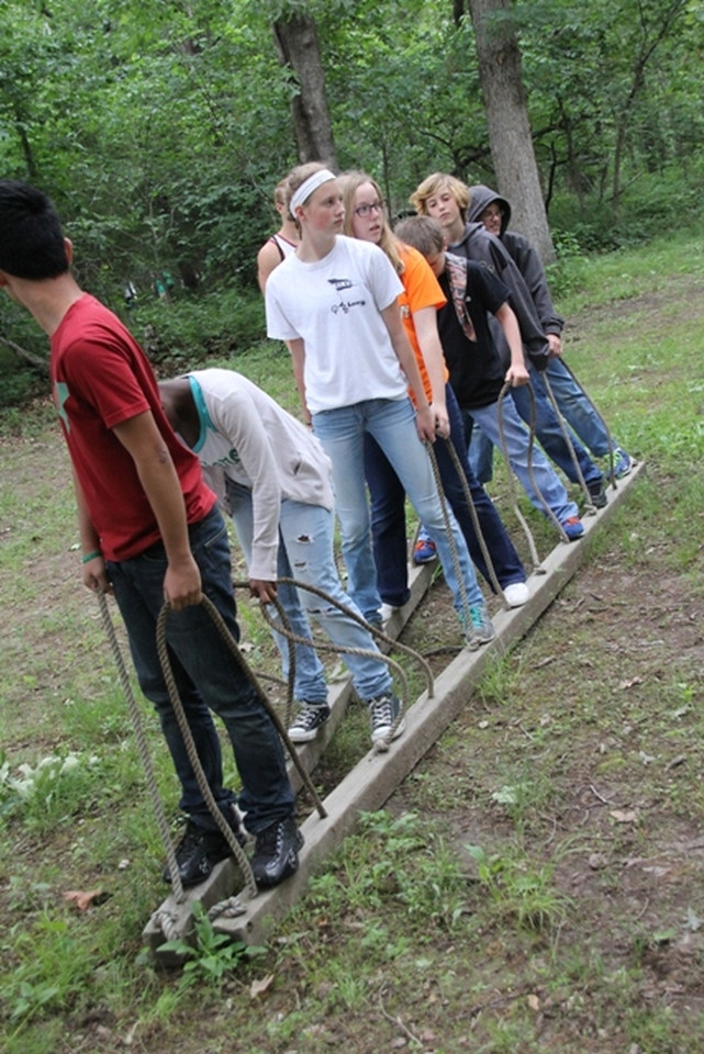 Monday, June 9: CIP at the Low Ropes course. Josh is second from the back in this one.