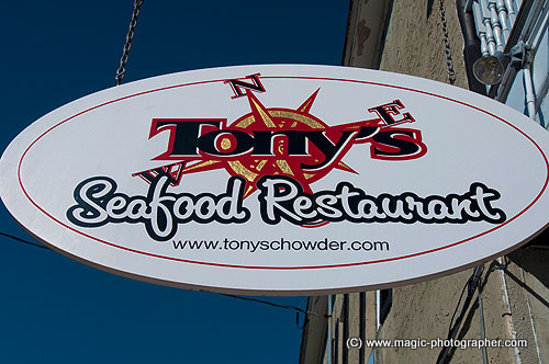 Tonys Seafood  and Clam Chowder restaurant, Cedar Tonys Seafood  and Clam Chowder restaurant, Cedar Key, Florida, United States, USA