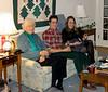 Grandma Dorothy sitting with Benjamin and Isabel