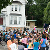 Hundreds of people turned out for the Newburgh Enlarged City School District sponsored Back-to-School Backpack BBQ at the BOE/Library on Grand St in Newburgh on Saturday, August 23, 2014. Hudson Valley Press/CHUCK STEWART, JR.