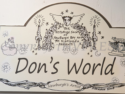 """""""Don's World,"""" a retrospective exhibition of the work of the late Don Herron at the Crawford House Sunday, January 26, 2014. Hudson Valley Press/CHUCK STEWART, JR."""