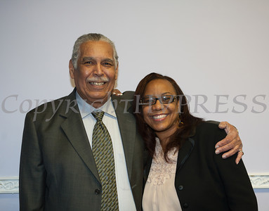 Former Brave and Negro League Baseball Player Gilbert Black, with Pastor Almetra Murdock, was the guest speaker at Empowerment Temple Intl. on Sunday, February 23, 2014 for their Black History Month event. Hudson Valley Press/CHUCK STEWART, JR.