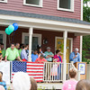 Frank Gallagher, President HgHGN welcomes everyone to Habitat for Humanity of Greater Newburgh's dedication of the Spearman and Martinez homes on East Parmenter St. in the City of Newburgh on Saturday, June 14, 2014 to complete the week long Builders Blitz. Hudson Valley Press/CHUCK STEWART, JR.