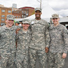 Cadets from the United States Military Academy at West Point volunteered for Habitat for Humanity of Greater Newburgh's 15th Annual Walk for Housing on Sunday, April 27, 2014 in the City of Newburgh, NY. Hudson Valley Press/CHUCK STEWART, JR.