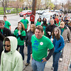 Hundreds of walkers turn onto Liberty Street from Washington during Habitat for Humanity of Greater Newburgh's 15th Annual Walk for Housing on Sunday, April 27, 2014 in the City of Newburgh, NY. Hudson Valley Press/CHUCK STEWART, JR.