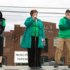 Cathy Collins, Executive Director of Habitat for Humanity of Greater Newburgh offers remarks prior to Habitat for Humanity of Greater Newburgh's 15th Annual Walk for Housing on Sunday, April 27, 2014 in the City of Newburgh, NY. Hudson Valley Press/CHUCK STEWART, JR.