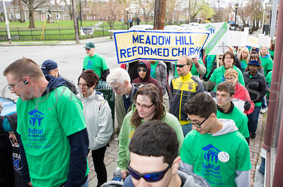 Meadow Hill Reformed Church participates in Habitat for Humanity of Greater Newburgh's 15th Annual Walk for Housing on Sunday, April 27, 2014 in the City of Newburgh, NY. Hudson Valley Press/CHUCK STEWART, JR.
