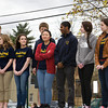 Newburgh Free Academy students perform at Habitat for Humanity of Greater Newburgh's 15th Annual Walk for Housing on Sunday, April 27, 2014 in the City of Newburgh, NY. Hudson Valley Press/CHUCK STEWART, JR.