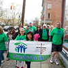 The PresbyBuild team heads up Liberty Street during Habitat for Humanity of Greater Newburgh's 15th Annual Walk for Housing on Sunday, April 27, 2014 in the City of Newburgh, NY. Hudson Valley Press/CHUCK STEWART, JR.