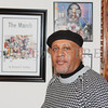 Richard Outlaw was one of 10 featured artists in the Howland Cultural Center's annual celebration of African-American History Month art exhibit, that began on Saturday, February 1, 2014. Hudson Valley Press/CHUCK STEWART, JR.