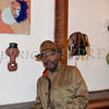 Ron Brown was one of 10 featured artists in the Howland Cultural Center's annual celebration of African-American History Month art exhibit, that began on Saturday, February 1, 2014. Hudson Valley Press/CHUCK STEWART, JR.
