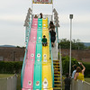 Children enjoy the Super Slide at the 26th Annual International Festival held over the Labor Day Weekend in the City of Newburgh. Hudson Valley Press/CHUCK STEWART, JR.