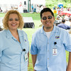 Marisol Guzman and Jorge Huincho of Hudson Health Plan enjoy the sixth annual La Guelaguetza which was held in Waryas Park in Poughkeepsie, NY on Sunday, August 3, 2014. Hudson Valley Press/CHUCK STEWART, JR.