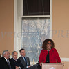 Council member Cindy Holmes addresses those gathered for the swearing-in of new council members at Newburgh's City Hall on Saturday, January 11, 2014. Hudson Valley Press/CHUCK STEWART, JR.